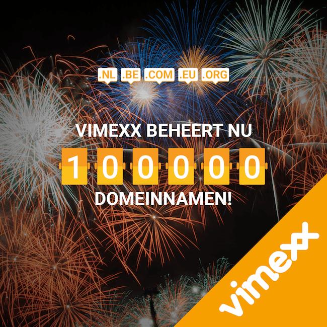 Vimexx 100.000 domeinen
