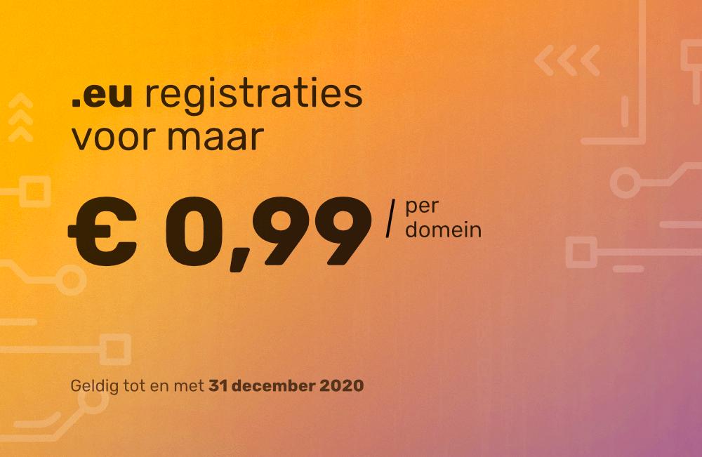 Superdeal! .EU nu voor slechts €0,99!