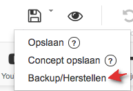 Website maker backup/herstellen
